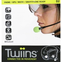 Twiins D2 Hands-Free Bluetooth Communication System