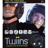 Twiins D3 Hands-free Bluetooth Communication System