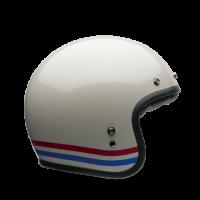 Bell Custom 500 stripes pearl white